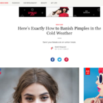 "TeenVogue.com December 2015 ""How to Banish Pimples in Cold Weather"""
