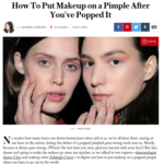 "StyleCaster.com October 2016 ""How To Put Makeup on a Pimple After You've Popped It"""